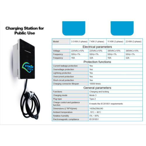 E-TWOW Charge Fali töltő 3.5 KW