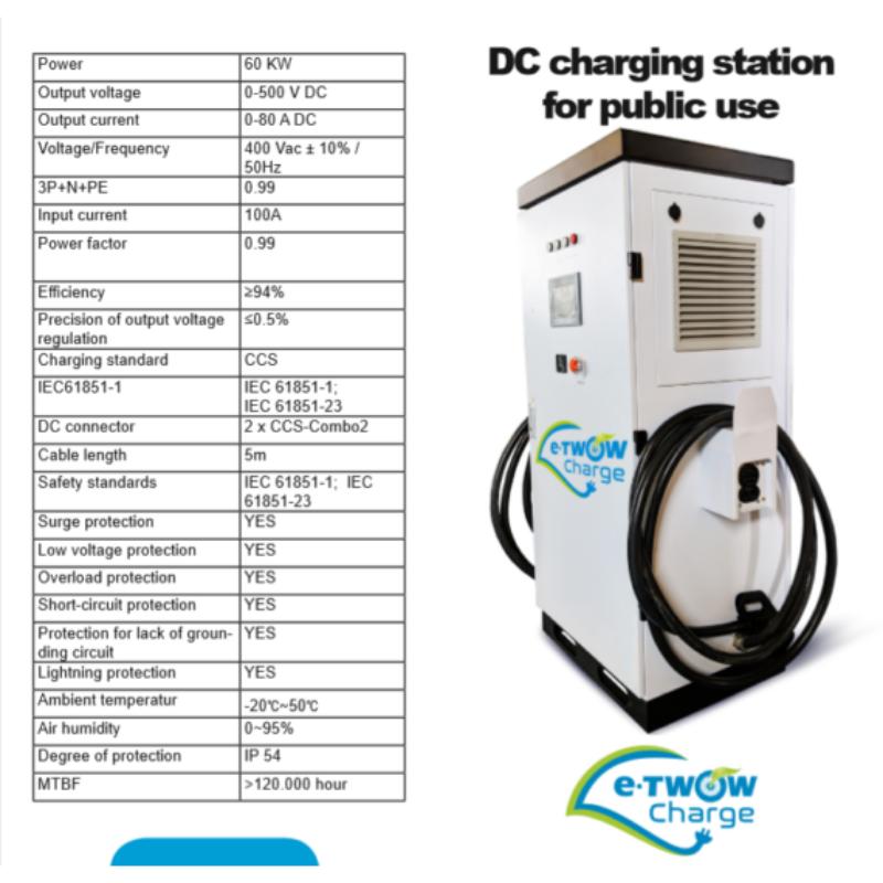 E-TWOW Charge Álló töltő 60 kW